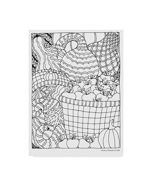 "Trademark Global Jessica Putnam 'Autumn 6' Canvas Art - 14"" x 19"""