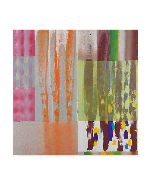 "Trademark Global Hooshang Khorasani 'Color Storm Shadow' Canvas Art - 14"" x 14"""