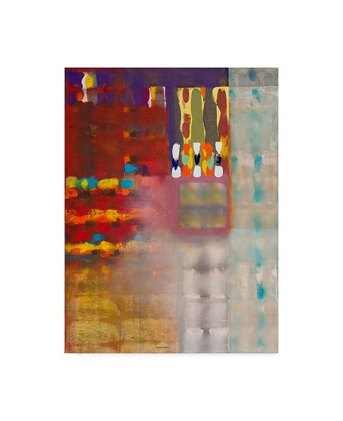 "Trademark Global Hooshang Khorasani 'Color Storm At The Piazza' Canvas Art - 14"" x 19"""