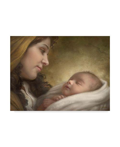 "Trademark Global Howard Lyon 'A Son Is Given' Canvas Art - 19"" x 14"""