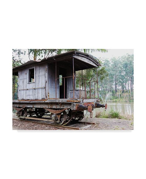 "Trademark Global Incredi 'Train Car' Canvas Art - 19"" x 12"""
