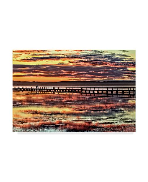 "Trademark Global Incredi 'Cloudy Sunset' Canvas Art - 24"" x 16"""