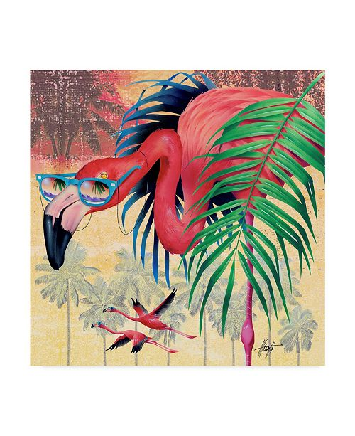 "Trademark Global James Mazzotta 'Cool Flamingoes' Canvas Art - 24"" x 24"""