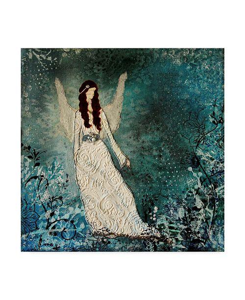 "Trademark Global Janelle Nichol 'Winter Angel' Canvas Art - 14"" x 14"""