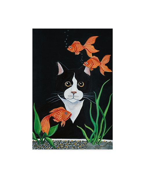 "Trademark Global Jan Panico 'Oscar Mesmerized' Canvas Art - 16"" x 24"""