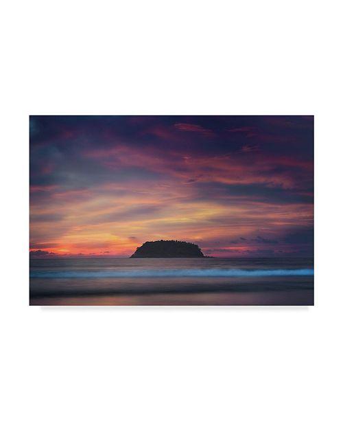 "Trademark Global Jason Matias 'Kata Sunset' Canvas Art - 24"" x 16"""