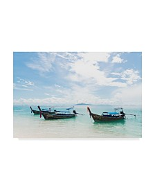 "Jason Matias 'Thailand Boats I' Canvas Art - 24"" x 16"""