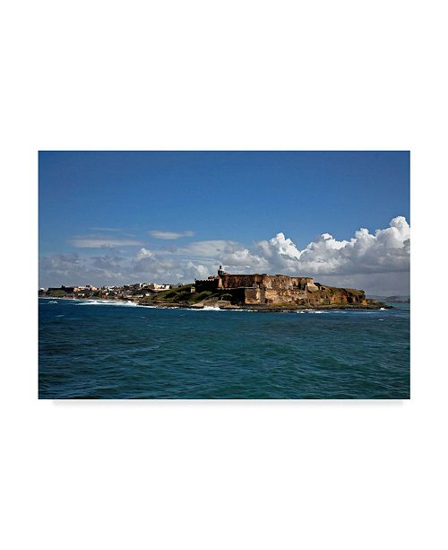 "Trademark Global J.D. Mcfarlan 'El Morro, San Juan Puerto Rico' Canvas Art - 24"" x 16"""