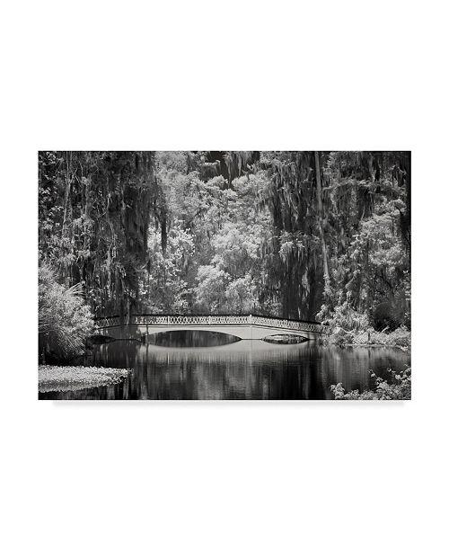 "Trademark Global J.D. Mcfarlan 'Ir Magnolia Gardens' Canvas Art - 24"" x 16"""
