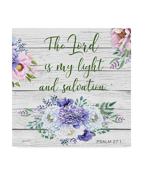 "Trademark Global Jean Plout 'Garden Florals Bible Verse 3' Canvas Art - 24"" x 24"""