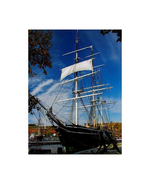 "Trademark Global J.D. Mcfarlan 'Tall Ship' Canvas Art - 18"" x 24"""