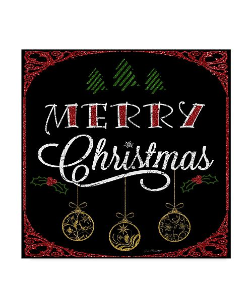"Trademark Global Jean Plout 'Merry Christmas Typography' Canvas Art - 14"" x 14"""