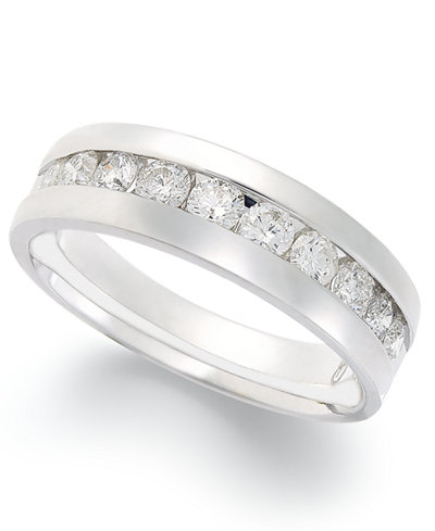 Diamond Band Ring in 14k White Gold (1 ct. t.w.)