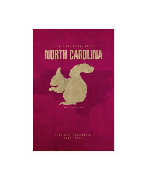 "Trademark Global Red Atlas Designs 'State Animal North Carolina' Canvas Art - 16"" x 24"""