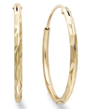 GIANI BERNINI   Giani Bernini 18k Gold Over Sterling Silver Earrings, Hoop Earrings   Goxip