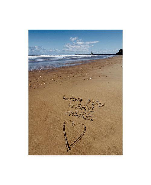"Trademark Global Tom Quartermaine 'Beach Writing Wish' Canvas Art - 18"" x 24"""