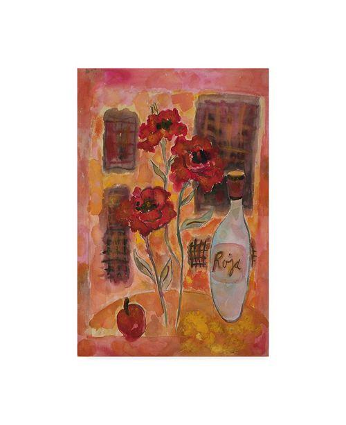 "Trademark Global Lorraine Platt 'On The Terrace' Canvas Art - 12"" x 19"""