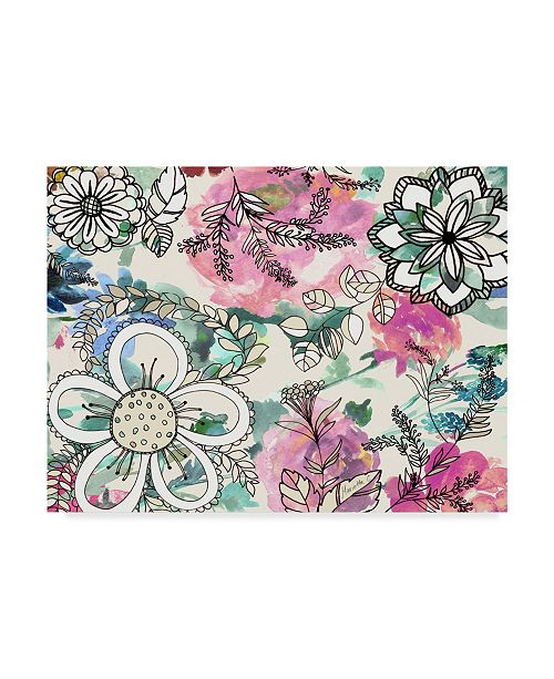 "Trademark Global Marietta Cohen Art And Design 'Graphic Flowers' Canvas Art - 24"" x 18"""