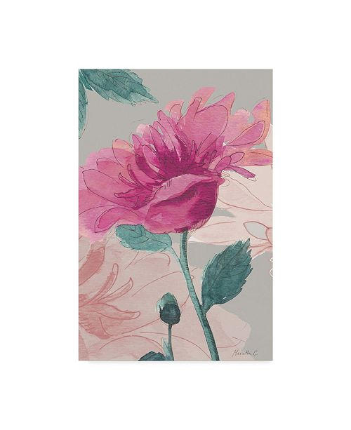 """Trademark Global Marietta Cohen Art And Design 'Flower Sketch 1' Canvas Art - 16"""" x 24"""""""