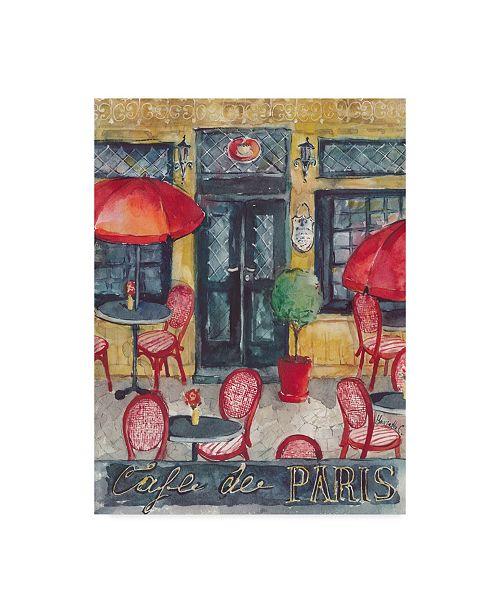 "Trademark Global Marietta Cohen Art And Design 'Cafe De Paris Umbrellas' Canvas Art - 14"" x 19"""