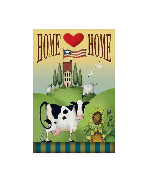 "Trademark Global Margaret Wilson 'Cow Home' Canvas Art - 22"" x 32"""