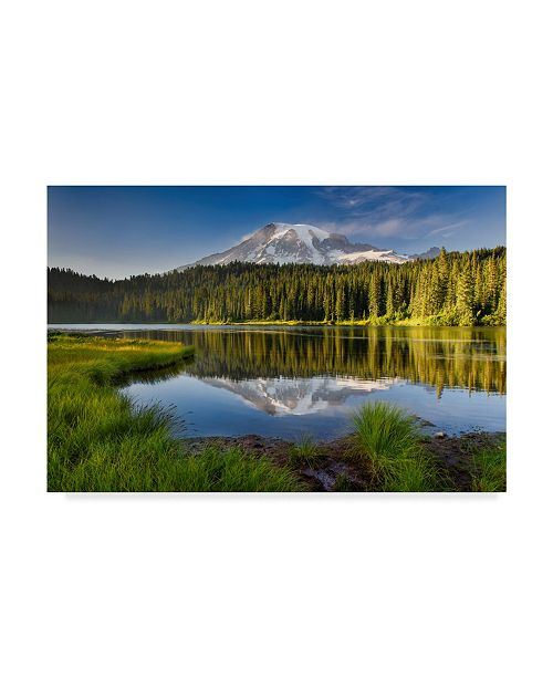 "Trademark Global Michael Blanchette Photography 'Reflection Lake Vista' Canvas Art - 19"" x 12"""
