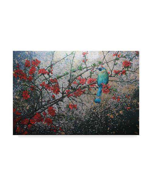 "Trademark Global Michael Jackson 'Bird In Floral Tree' Canvas Art - 24"" x 16"""