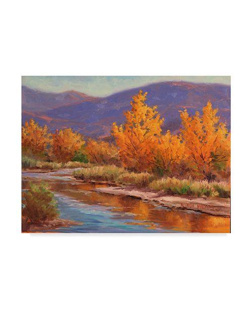 "Trademark Global Wanda Mumm 'Autumn River Centered' Canvas Art - 19"" x 14"""