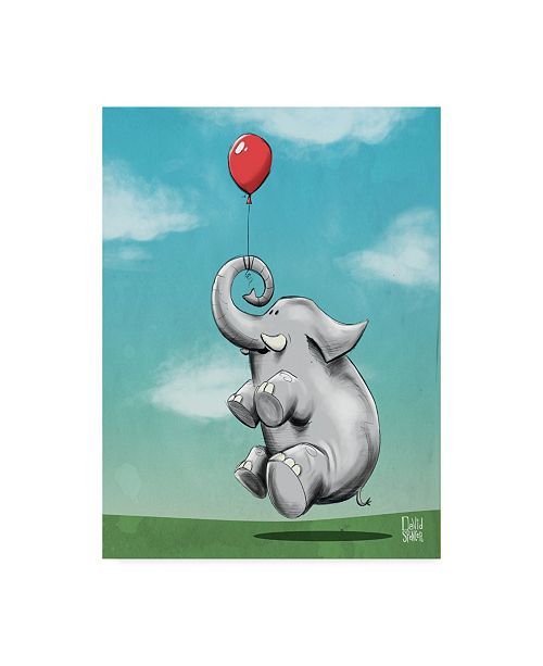 "Trademark Global Mischief Factory 'Dream Big Elephant' Canvas Art - 14"" x 19"""