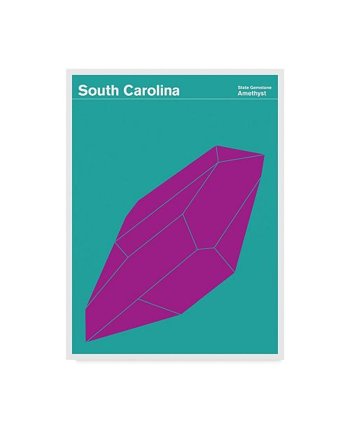 "Trademark Global Print Collection - Artist 'South Carolina Symbol' Canvas Art - 14"" x 19"""