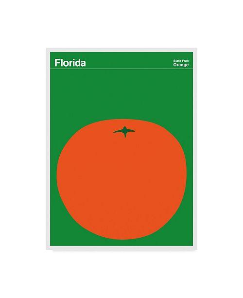 "Trademark Global Print Collection - Artist 'Florida Orange' Canvas Art - 14"" x 19"""