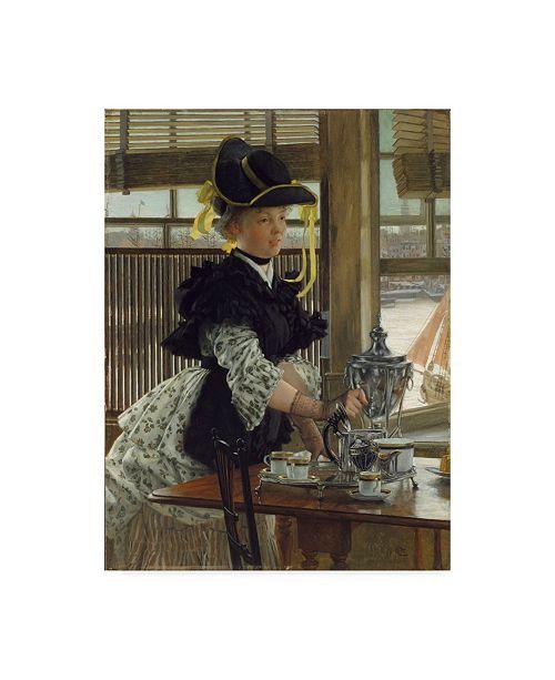"Trademark Global James Jacques Joseph Tissot 'Tea, 1872' Canvas Art - 24"" x 32"""
