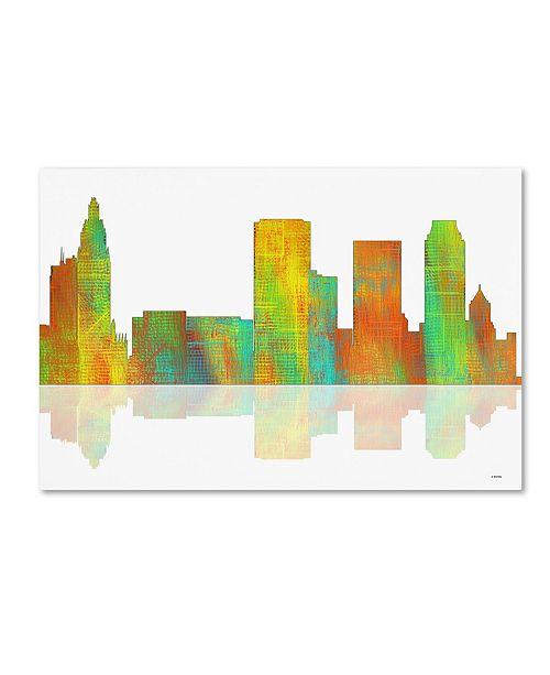 "Trademark Global Marlene Watson 'Tulsa Oklahoma Skyline' Canvas Art - 16"" x 24"""