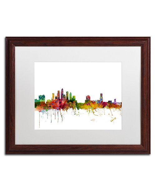 "Trademark Global Michael Tompsett 'Tampa Florida Skyline' Matted Framed Art - 16"" x 20"""