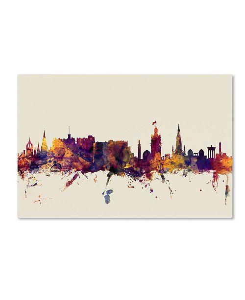"Trademark Global Michael Tompsett 'Edinburgh Scotland Skyline' Canvas Art - 22"" x 32"""