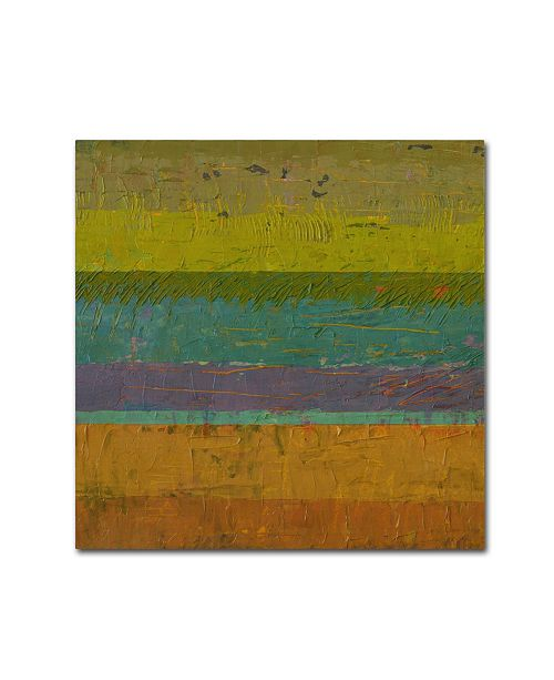 "Trademark Global Michelle Calkins 'Chartreuse Line' Canvas Art - 24"" x 24"""