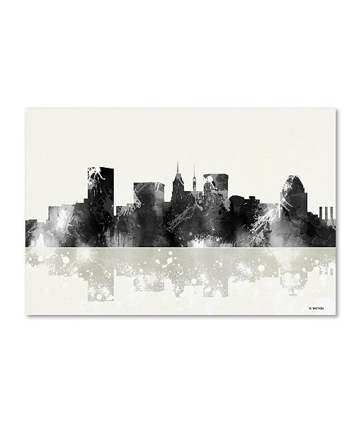 "Trademark Global Marlene Watson 'Baltimore Maryland Skyline BG-1' Canvas Art - 22"" x 32"""