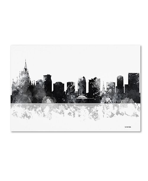 "Trademark Global Marlene Watson 'Orlando Florida Skyline BG-1' Canvas Art - 22"" x 32"""