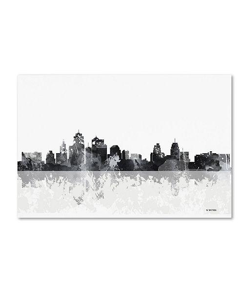 "Trademark Global Marlene Watson 'Kansas City Missouri Skyline' Canvas Art - 22"" x 32"""