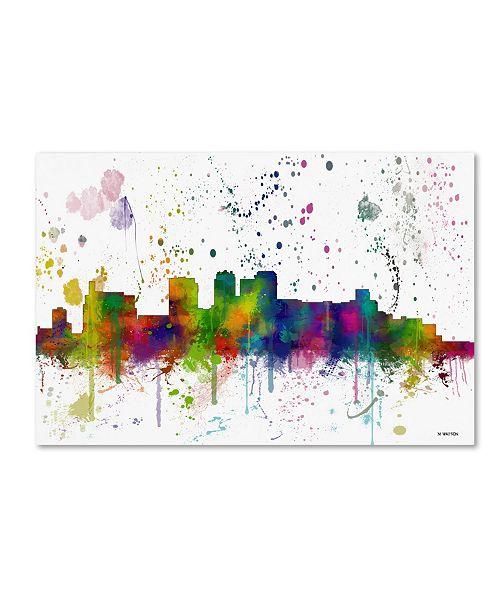 "Trademark Global Marlene Watson 'Birmingham Alabama Skyline Mclr-1' Canvas Art - 30"" x 47"""