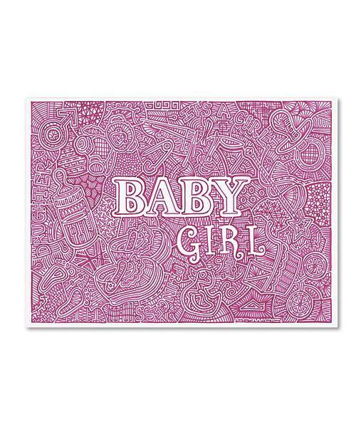 "Trademark Global Viz Art Ink 'Baby Girl' Canvas Art - 24"" x 32"""
