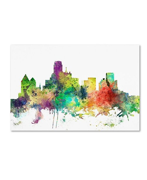 "Trademark Global Marlene Watson 'Dallas Texas Skyline SP' Canvas Art - 22"" x 32"""