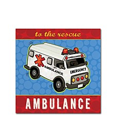 "Stephanie Marrott 'Ambulance' Canvas Art - 35"" x 35"""