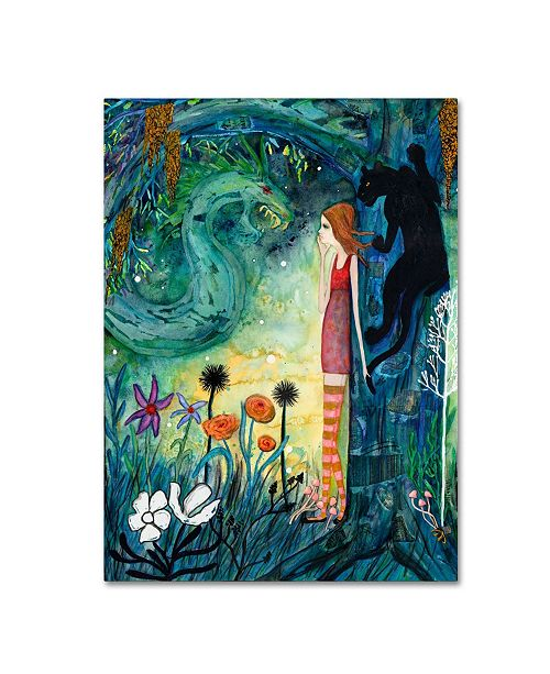 """Trademark Global Wyanne 'Big Eyed Girl Can Of Worms' Canvas Art - 24"""" x 32"""""""