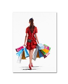 "The Macneil Studio 'Girl Shopping' Canvas Art - 35"" x 47"""