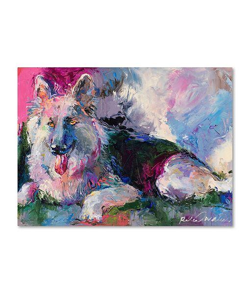 "Trademark Global Richard Wallich 'German Shepherd' Canvas Art - 24"" x 32"""