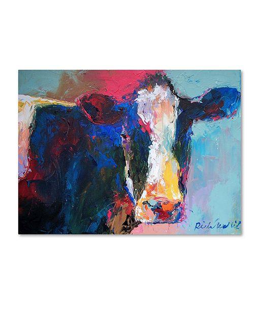 "Trademark Global Richard Wallich 'Art B Cow' Canvas Art - 35"" x 47"""
