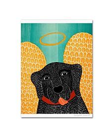 "Stephen Huneck 'Angel Dog Black' Canvas Art - 35"" x 47"""