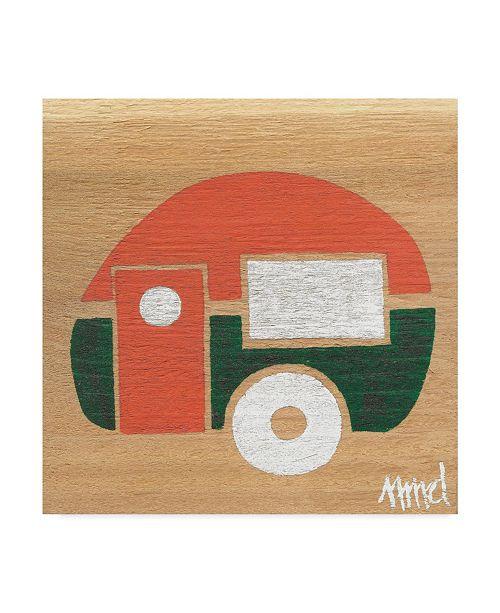 """Trademark Global Nicole Dietz 'Orange Green Camp' Canvas Art - 24"""" x 24"""""""