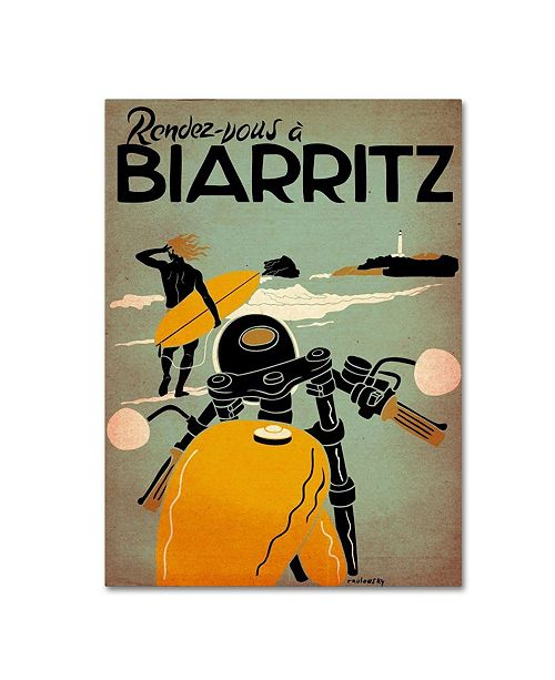 "Trademark Global Vintage Apple Collection 'Biarritz' Canvas Art - 35"" x 47"""